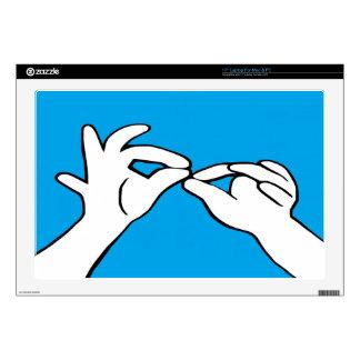 ASL American Sign Language INTERPRET Laptop Skin