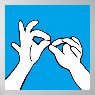 ASL American Sign Language INTERPRET Poster