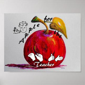 ASL Apple for the Teacher Poster