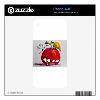 ASL Apple for the Teacher Skins For iPhone 4