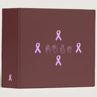 ASL Breast Cancer Hope Binder