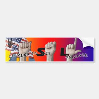 ASL BUMPER STICKER - AMERICAN SIGN LANGUAGE CAR BUMPER STICKER