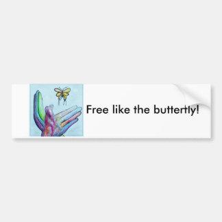 ASL Butterfly Bumper Sticker