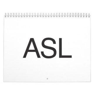 Asl Wall Calendars