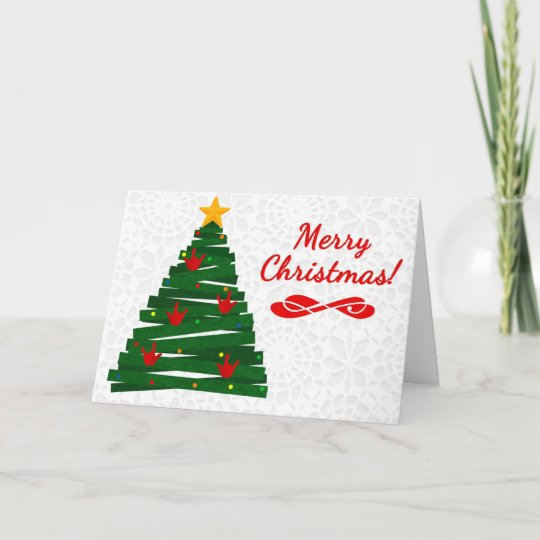 asl christmas tree card w ily handshape ornaments - Asl Christmas
