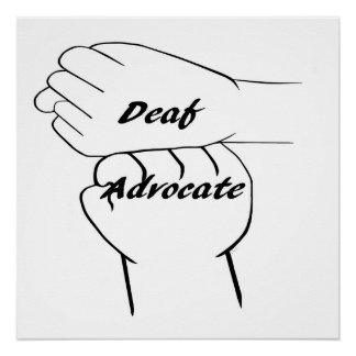 ASL Deaf Advocate Poster