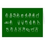 ASL divertido ningún L blanco en el verde para la  Felicitación