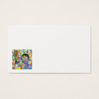 ASL Father on a Bright Bubble Background Business Card