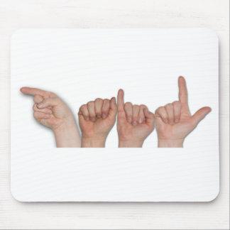 ASL Fingerspelled Name on Mousepad - Gail