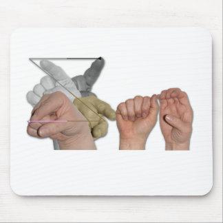 ASL Fingerspelled Name on Mousepad - Zac