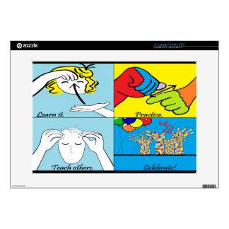 "ASL Four Steps to Success 15"" Laptop Skin"