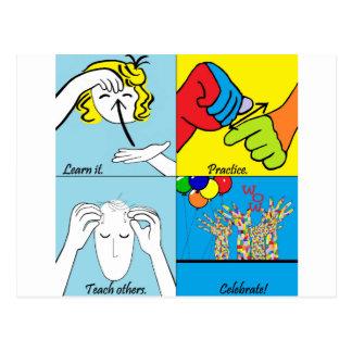 ASL Four Steps to Success Postcard
