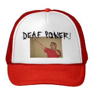 ASL FRIENDS, DEAF POWER! TRUCKER HAT