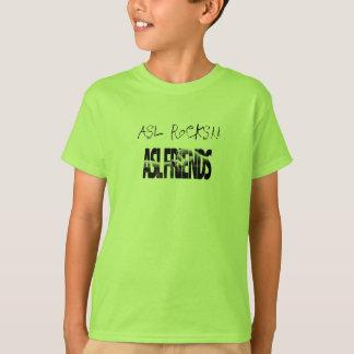 ASL FRIENDS GREEN, ASL ROCKS!! T-Shirt