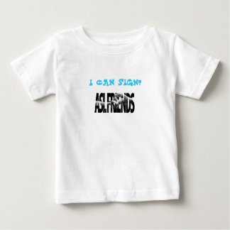 ASL FRIENDS LOGO, I CAN SIGN! BABY T-Shirt