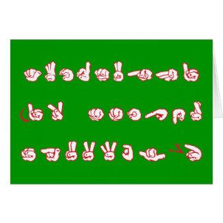 ASL Graffiti No L Red for Christmas Card