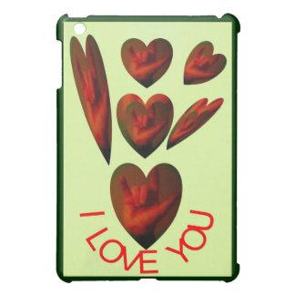 ASL Hand Sign-I Love You Hearts iPad Mini Covers