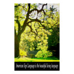 """ASL-Handshaped Branches 36"""" x 24"""" Poster"""