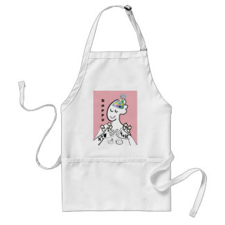 ASL Happy New Year Adult Apron