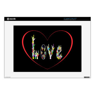 "ASL Heart Full of Love 15"" Laptop Decal"