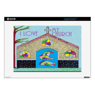 "ASL I Love my Church 15"" Laptop Decal"