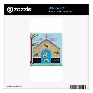 ASL I Love my Church Skins For iPhone 4S