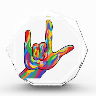ASL I Love You BOLD COLOR Award