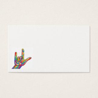 ASL I Love You Business Card