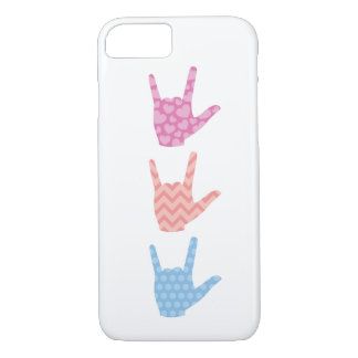 ASL I Love You Colors and Patterns iPhone 8/7 Case