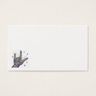 ASL I Love You Denim and Camouflage Colors Business Card