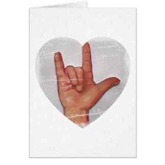 "ASL ""I LOVE YOU"" HEART SHAPE #2 CARD"