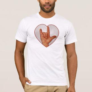 ASL I LOVE YOU, HEART SHAPED T-Shirt