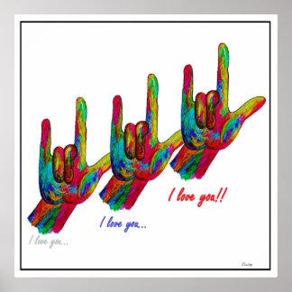 ASL I love you, I love you, I LOVE YOU Poster