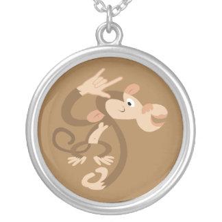 ASL I Love You Monkey Necklace