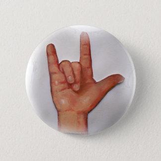 ASL I LOVE YOU NO. 3 BUTTON