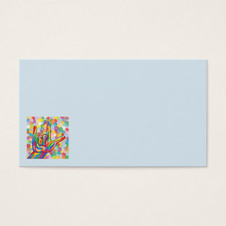 ASL I Love You on Bubble Background Business Card