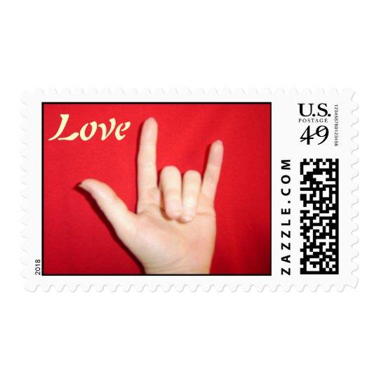ASL - I Love You Postage