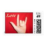 ASL - I Love You Postage Stamps