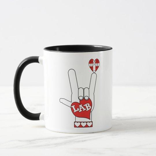ASL I Love YOU Sign LAB (LABORATORY) Mug
