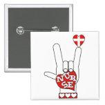 ASL I Love YOU Sign Language - HAND HEART NURSE Pins