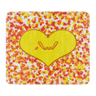 ASL-I Love You with Heart by Shirley Taylor Cutting Board