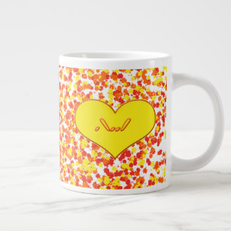 ASL-I Love You With Heart by Shirley Taylor Giant Coffee Mug