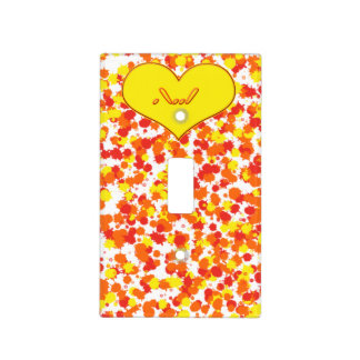 ASL-I Love You with Heart by Shirley Taylor Light Switch Cover