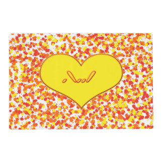 ASL-I Love You with Heart by Shirley Taylor Placemat