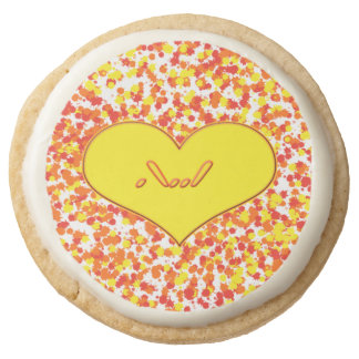 ASL-I Love You with Heart by Shirley Taylor Round Shortbread Cookie