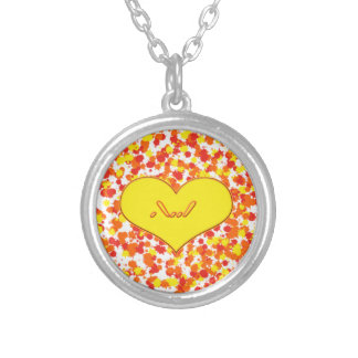 ASL-I Love You with Heart by Shirley Taylor Silver Plated Necklace