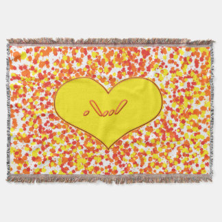 ASL-I Love You with Heart by Shirley Taylor Throw Blanket