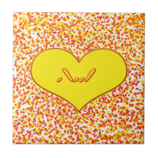 ASL-I Love You with Heart by Shirley Taylor Tile
