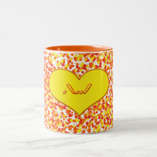 ASL-I Love You With Heart by Shirley Taylor Two-Tone Coffee Mug