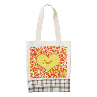ASL-I Love You with Heart by Shirley Taylor Zazzle HEART Tote Bag